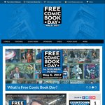Free Comic Books (Made from Paper) on Free Comic Book Day, Saturday, May 6