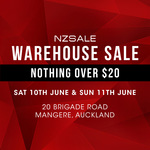 Nzsale Auckland Warehouse Sale This Weekend Only - $20 Jackets, $15 Fleeces, Everything Else $10