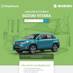 Win a Suzuki Vitara JLX 2WD Automatic (Worth $30,690) from Neighbourly