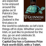Win a Guinness Prize Pack (T-Shirt, Cups, Hat and More) from The Dominion Post