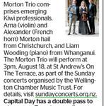 Win a Double Pass to Morton Trio from The Dominion Post (Wellington)