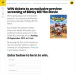 Win 1 of 250 Double Passes to Blinky Bill Screening, Sept 20 from AA