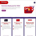 7.5% off @ The Warehouse with Warehouse Money Visa plus other deals