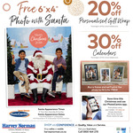 "Free 6"" X 4"" Photo with Santa, Sat + Sun, 11AM-2PM until Christmas @ Harvey Norman"