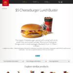 $5 Cheeseburger Lunch Buster, 1130am - 230pm @ McDonald's