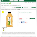 Keri Premium Apple Juice 1L - $1 @ Countdown
