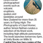 Win 1 of 2 copies of Flying High: The Photography of Lloyd Homer from The Dominion Post