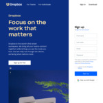 Free 45GB of Storage for 6 Months on Dropbox via Upwork & Pixlr
