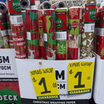 Christmas Wrapping Paper 15m $1 @ Bunnings