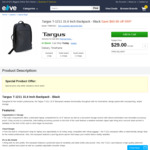 Targus T-1211 II 15.6 Inch Backpack = $29 from Elive.co.nz