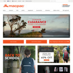 40% off All Packs Tents and Sleeping Bags + Back to School Sale @ Macpac