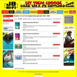 15% off iTunes Gift Cards, $85 for $100, $42.50 for $50, Free Delivery @ JB Hi-Fi