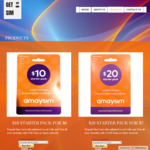 Australian Amaysim Sim Starter Pack: A $10 Sim for A $10; A $20 Sim for A $15; A $30 Sim for A $20; A $40 Sim for A $25 @ Gmsim