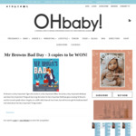 Win 1 of 3 copies of Mr Browns Bad Day from OH baby!