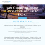 Win a 7-Night Sunshine Coast (QLD) Holiday Worth $3,082 from Discover 365