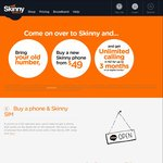 Skinny Mobile - Unlimited Calls within NZ for 3 Months When You Move Your Number