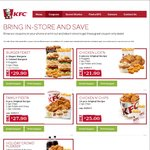 KFC April Coupons: Zinger Burger + 3 Wicked Wings $10, Free Reg Chips with Any Burger + More