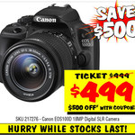 Canon EOS 100D Digital SLR Camera $499 Save $300 @JB HI-FI