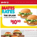 Wendy's Mates Rates: 2 Bacon Cheeseburgers, Value Fries & Value Drink $9.90 + More