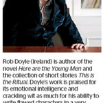 Win a Double Pass to a Rob Doyle Talk from The Dominion Post (Wellington)