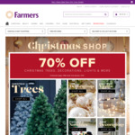 70% off Everything Christmas Related @ Farmers