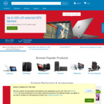Extra 5% off at Dell
