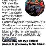 Win 1 of 2 Double Passes to The Goblin Market from The Dominion Post (Wellington)