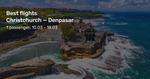 Christchurch/Auckland/Wellington to Bali $635 / $659 / $706 Return on Virgin Australia via Beat That Flight