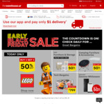 Buy One Get One Half Price on All LEGO /Duplo @ The Warehouse Online