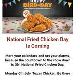 5 Pieces of Fried Chicken for $9.90 @ Texas Chicken (Monday 6th July only)
