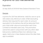 Uber Eats Free 100 Deliveries (on Orders over $10)