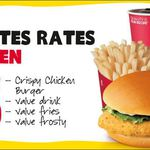 Crispy Chicken Burger or Deluxe Cheese Burger with Fries, Drink & Frosty $5 @ Wendy's