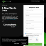 Attend Entire Seagate DataSphere 2021 Virtual Event (31/3), Receive $10 Virtual Visa Voucher @ Seagate