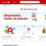 $10 off $100 Spend; 30% off Fisher-Price Toys, Sunglasses, Pots & Pans, & Tea Towels; 40% off Suitcases @ The Warehouse App