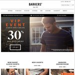 30% off Barkers Instore and Online VIP Sale