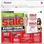 Farmer's Boxing Day Sale: 50% off Womens Lingerie, Men's Underwear & Socks, 20% off Lego