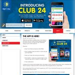 Free Large Hot Drink (~$5) - Sign up to The Night and Day App (Club 24)
