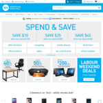Spend and Save ($100 Save $10, $200 Save $25, $300 Save $45) @ Warehouse Stationery