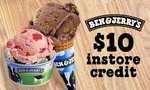 $5 for $10 Credit or $10 for $20 Credit toward Ice Cream at Ben & Jerry's via Groupon (AKL and CHCH)