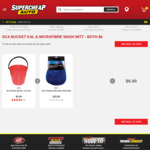SCA Premium Microfibre Wash Mitt & Plastic Bucket $6 (Normally $18.48), Armor All Wash & Wax 1.25L 2 for $14 @ Supercheap Auto
