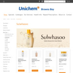 25% off Sulwhasoo (e.g. Cleansing Foam/Oil 200ml $37.49) + Free Delivery @ Unichem, Browns Bay