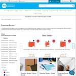3B1 Notebook $0.05 - 1B5 Exercise Book $0.25 - 1B8 Exercise Book $0.39 and More @ Warehouse Stationery (Up to 94% Off)