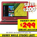 "Acer Cloudbook 11.6"" Laptop $299 Was $499 @ JB Hi-Fi"