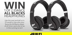 Win 1 of 2 Pairs of Idance All Blacks Headphones from JB Hi-Fi
