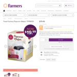 Treat Factory Popcorn Maker TFPM105 for $19.99 down from $79 at Farmers