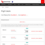 Qantas Global Sale - Australia, Asia, Americas, Europe - AKL-Melbourne $239 OW, AKL-San Francisco $549 OW, AKL-New York $699 OW