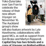 Win Two Tickets and a Copy of Voyager on Limited-Edition Double LP from The Dominion Post (Wellington)