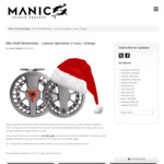 Win a Lamson Speedster 2 Grey / Orange Reel from Manic Tackle Project