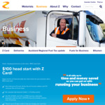 $100 Account Credit, $2.50 Monthly Fee, 6c off Per Litre @ Z Card