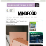 Win 1 of 3 Love from You Self-Care Subscription Boxes from Mindfood